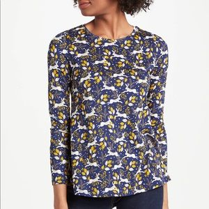 Boden Blue Jersey Libby Hare Long Sleeve Top